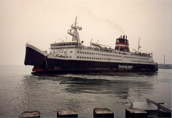 DSB M/F Dronning Ingrid fra 1980 i Nyborg Fgh.